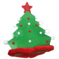 HKostüm Yılbaşı Ağacı Görünümlü Kadife Şapka
