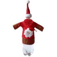 HKostüm Yılbaşı Noel Baba Şişe Kılıfı