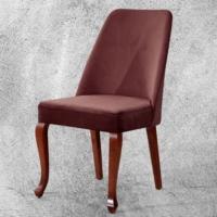 Hira Demonte Lükens Ceviz Ayaklı Kavisli Sandalye