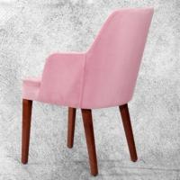 Hira Demonte Düz Ceviz Ayaklı Kollu Sandalye