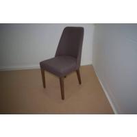 Hira Demonte Düz Ceviz Ayaklı K.Kahve Kavisli Sandalye