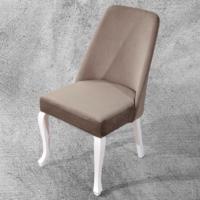 Hira Demonte Lükens Beyaz Ayaklı Kavisli Sandalye