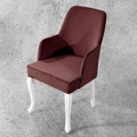 Hira Demonte Lükens Beyaz Ayaklı Kollu Sandalye