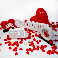 Harfdekor Seni Seviyorum Özel Tasarım Beyaz Kaplamalı + Gül Yaprağı + Mum + Balon + Çerçeve + Kalp
