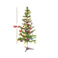 Kingshark Yılbaşı Ağacı 120 Cm Ve 100 Adet Yılbaşı Süsü Aydınlatmalı Set