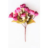Yapay Çiçek Deposu Yapay Çiçek Mini Şakayık Gül Demeti