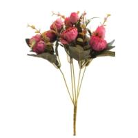 Yapay Çiçek Deposu Yapay Çiçek Tırtıklı Eren Gül Demeti