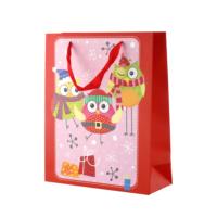 KullanAtMarket Kırmızı Simli Baykuş Yılbaşı Çantası
