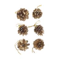 KullanAtMarket Yılbaşı Mini Çam Altın Kozalak Süs