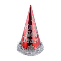 KullanAtMarket Kırmızı Gümüş Yılbaşı Şapkası