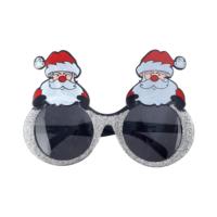 KullanAtMarket Noel Baba Gümüş Simli Gözlük