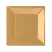 KullanAtMarket Altın Büyük Plastik Kare Tabak