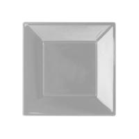 KullanAtMarket Gümüş Küçük Plastik Kare Tabak