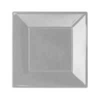 KullanAtMarket Gümüş Büyük Plastik Kare Tabak