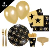 KullanAtMarket Hollywood Yıldızı Parti Seti 8 Kişilik