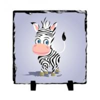 Fotografyabaski Şirin Zebra - Kare Taş 15X15Cm