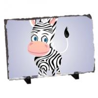 Fotografyabaski Şirin Zebra Dikdörtgen Taş Baskı 15X20 Cm
