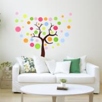 Puantiyeli Ağaç MDN-160 Duvar Sticker (Sticker Hediyeli)
