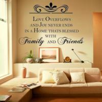 Family and Friends KD-126 Duvar Sticker (Sticker Hediyeli)