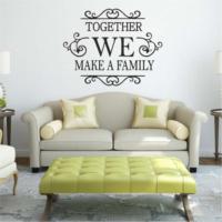 Together We Make a Family KD-139 Duvar Sticker (Sticker Hediyeli)