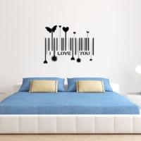 Love You KD-333 Duvar Sticker (Sticker Hediyeli)