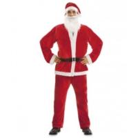 Yetişkin Noel Baba Kostümü Kadife