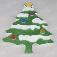Üzeri Karlı Çam Ağacı Strafor Yılbaşı Dekor Süs