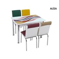 Osmanlı Mobilya Osmanlı Mutfak Masa Takımı Aliza Desen Masa + 6 Sandalye