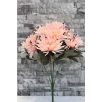 Yapay Çiçek Deposu krizantem çiçeği yapay çiçek demeti (somon)