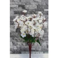 Yapay Çiçek Deposu 9lu yapay bahar dalı (yapay çiçek –beyaz)