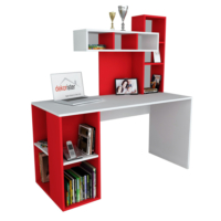 Dekorister Coral Çalışma Masası Beyaz/Kırmızı