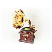 Cix Gramofon Şeklinde Takı Çekmeceli Müzik Kutusu
