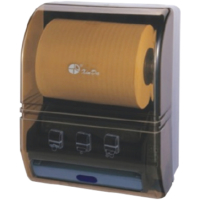 Çelik Banyo Fotoselli Kağıt Havlu Dispenseri 4*1,5Dc Pilli/ Elektrikli ,200-250-300 Mm Uzunluk Ayarı 21 Cm Kağıt Boyu, Abs Gövde