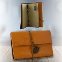 Helen'S Gift Turuncu Cüzdan Görünümlü Ayraçlı Günlük - Not Defteri