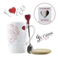 Helen'S Gift 100 Farklı Dilde Seni Seviyorum Yazılı Kupa Bardak