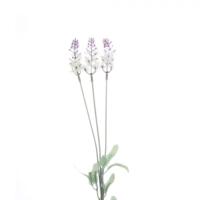 Yedifil Uzun Lavanta Beyaz Yapay Çiçek