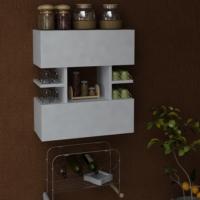 Eris Çok Amaçlı Mutfak Dolabı Beyaz
