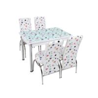 Osmanlı Mutfak Masa Takımı Masa + 6 Lale Sandalye Sarmaşık