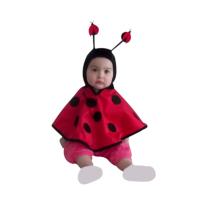 KullanAtMarket Bebek Uğur Böceği Kapüşonlu Pelerin 1-2 Yaş