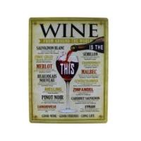 T-Bek Vintage Metal Pano Wine 30x40
