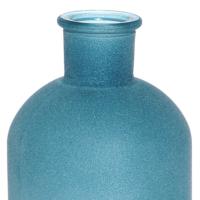Altıncı Cadde Cam Vazo Mavi 10 x 19 cm