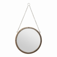 Esmerhome Metal Eskitme Ayna 45x45cm (Zincir Boyu 42cm)