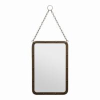 Esmerhome Metal Eskitme Ayna 50x35cm (Zincir Uzunluğu 32cm)