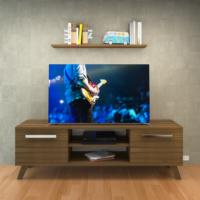 Eyibil Mobilya Ateş 140 cm Tv Sehpası Tv ünitesi Duvar Raflı Ceviz