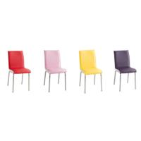 Evinizinmobilyasi İmalattan Satış Deri Pedli Sandalye Rengarenk(4 Adet)