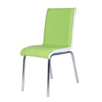 Evinizinmobilyasi İmalattan Satış Deri Pedli Sandalye Yeşil Baklava Desenli