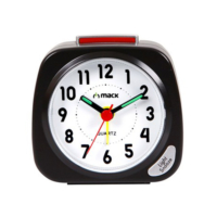 MACK MCT-888 BK Siyah Analog Alarmlı Masa Saati