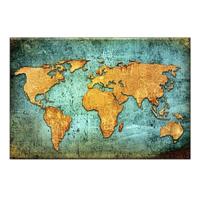 Arte Dünya Haritası Kanvas Tablo