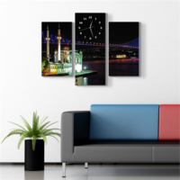 Tabloshop - Boğaz Köprüsü Ortaköy Kanvas Tablo Saat - 80X60cm