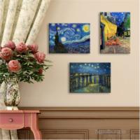 PlusCanvas Vincent Van Gogh 3 Parça Tablo Set